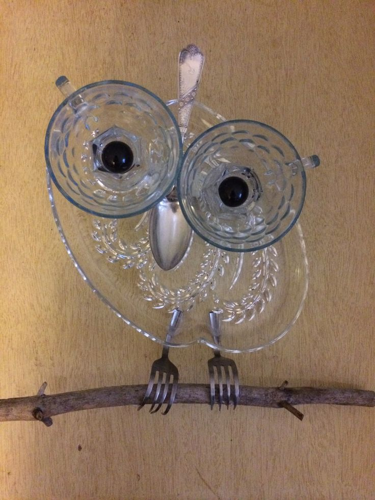Owl garden art/suncatcher by tambrey the Repurposer - 165