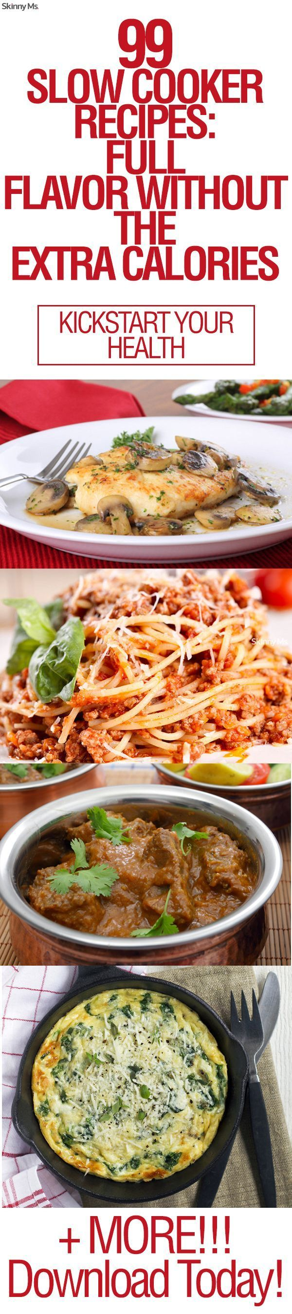 99 Slow Cooker Recipes: Full Flavor Without the Extra Calories. Eating  HabitsEvery DaySlow Cooker RecipesCrock Pot RecipesCrockpot ...