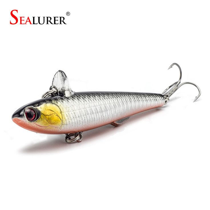 14.5g 9cm 1Pcs/lot Winter Fishing Hard Bait VIB With Lead Inside Ice Sea Fishing Tackle Diving Swivel Jig Wobbler Lure 5 Colors ** View the item in details by clicking the VISIT button