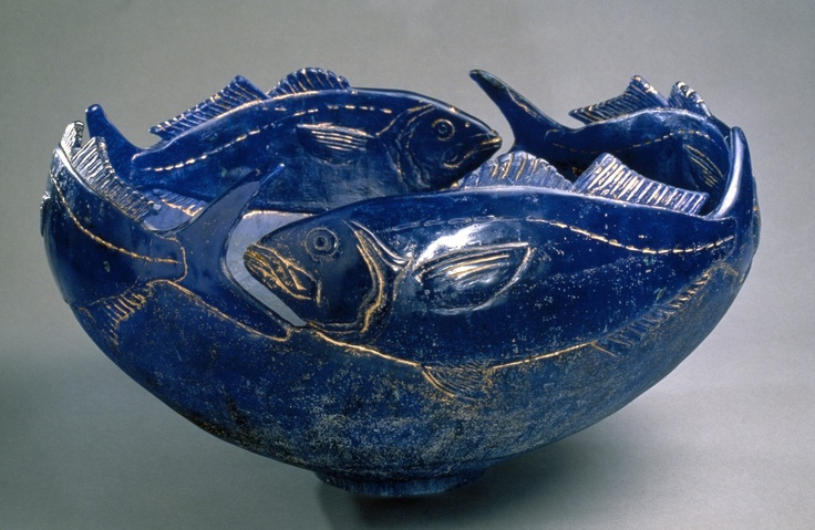 Blue fish by Charles Miner, 1992   Corning Museum of Glass