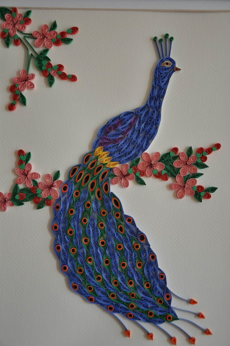 467 best peacock quilled images on pinterest filigree quilling