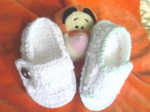 Tutorial de patucos o zapatitos de bebé a crochet o ganchillo. Versión Zurdos - YouTube