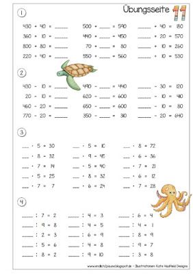 Endlich Pause 2.0: Übungsheft Zahlenraum 1000 - Teil 3 + 4
