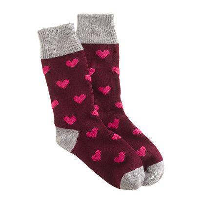 If I were ever going to drop $100 on socks -- Corgi™ for J.Crew cashmere bordeaux heart socks