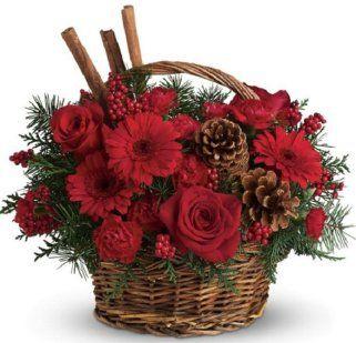 Las 25 mejores ideas sobre arreglos florales de navidad - Centros florales navidenos ...