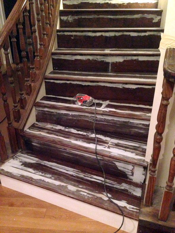 How To Repair And Paint Stairs. Cheers, Dana (as Seen On  Littlegreennotebook.