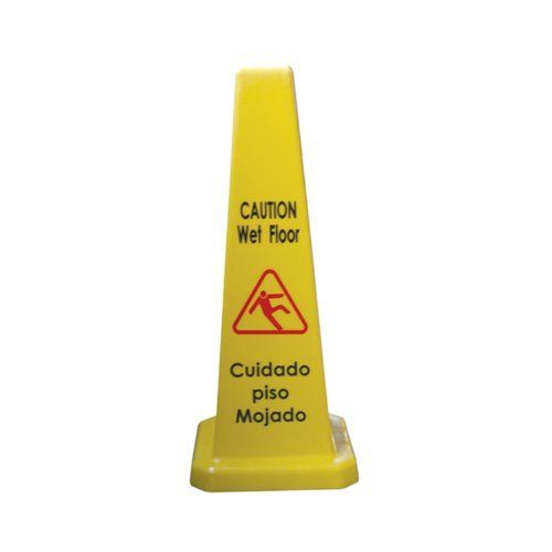 """Excellante Cone Shape Wet Floor Caution Sign, 27-Inch Height, Plastic by Excellanté. $24.90. Excellante Cone Shape """"Caution Wet Floor"""" Plus In Spanish """"Culdado Piso Mojado"""" Sign, 27 Inch Height, Plastic. The cone is nice and tall with a stackable feature. It is two-sided and easy to read and store."""