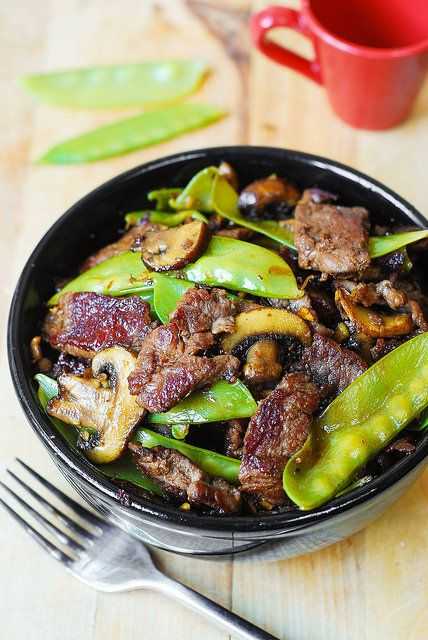 Find the recipe at JuliasAlbum.com:   Asian Beef with Mushrooms & Snow Peas My Pinterest page My Facebook page My Google page