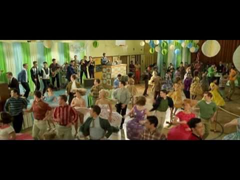 Hairspray - Zac Efron is so good looking in this movie and especially in this scene. I also love the message of the movie, being different is ok, desirable even. The heroine is not a tall skinny blonde. Hairspray shows us the importance of being yourself.