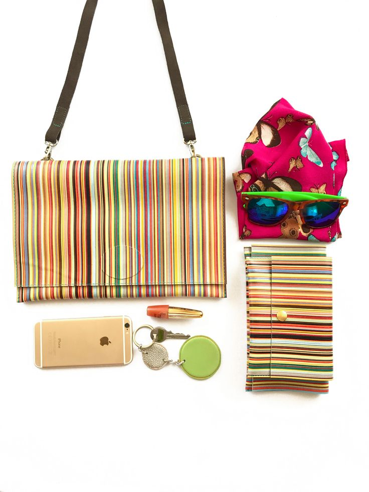 Chic colorful foldover bag for everyday use