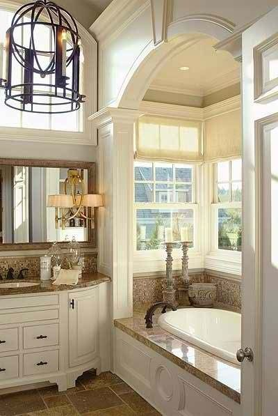 Master Bathroom w drop in whirlpool bath