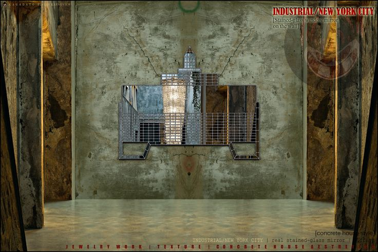 KAGADATO | RUSLAN KAHNOVICH. Designer wall mirror - INDUSTRIAL/NEW YORK  Tiffany technology  ****************************  Official site  K A G A D A T O  http://kagadato.wix.com/kagadato  ****************************  Republic of Belarus  Grodno city