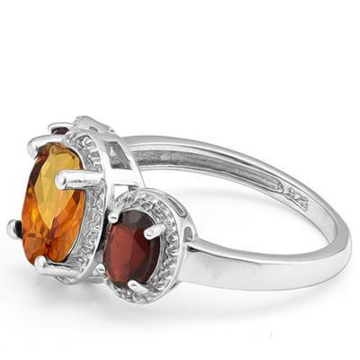 #1219 Today-Tomorrow-Forever Azotic Gem & Garnet Ring