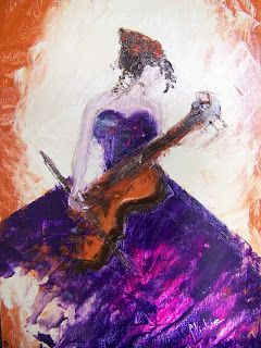 A Pretty Talent Blog: Paint An Impressionistic Violinist in Oils