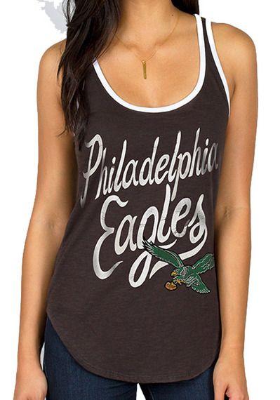 Philadelphia Eagles Womens Tank Top - Black Philadelphia Roster Ringer Sleeveless Shirt http://www.rallyhouse.com/shop/philadelphia-eagles-junk-food-11200048?utm_source=pinterest&utm_medium=social&utm_campaign=Pinterest-PhiladelphiaEagles $29.99