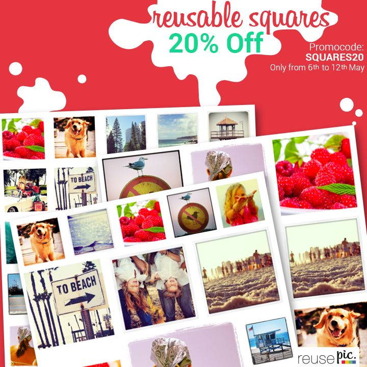 20% off in our reusable squares! Go and stick, unstick and stick again the fun