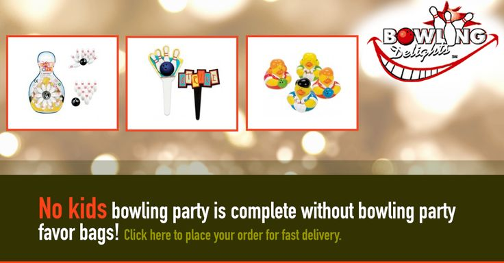 No kids bowling party is complete without bowling party favor bags! Click here to place your order for fast delivery. #bowling #gifts #products #giftbasket #chocolates #frames  #toys #games #novelties #party #high-quality #delivery #giveaway #BowlingDelights #shopping #deals #sale