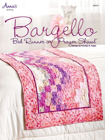 Quilting - Holiday & Seasonal Patterns - Valentine's Day Patterns - Bargello Bed Runner or Prayer Shawl