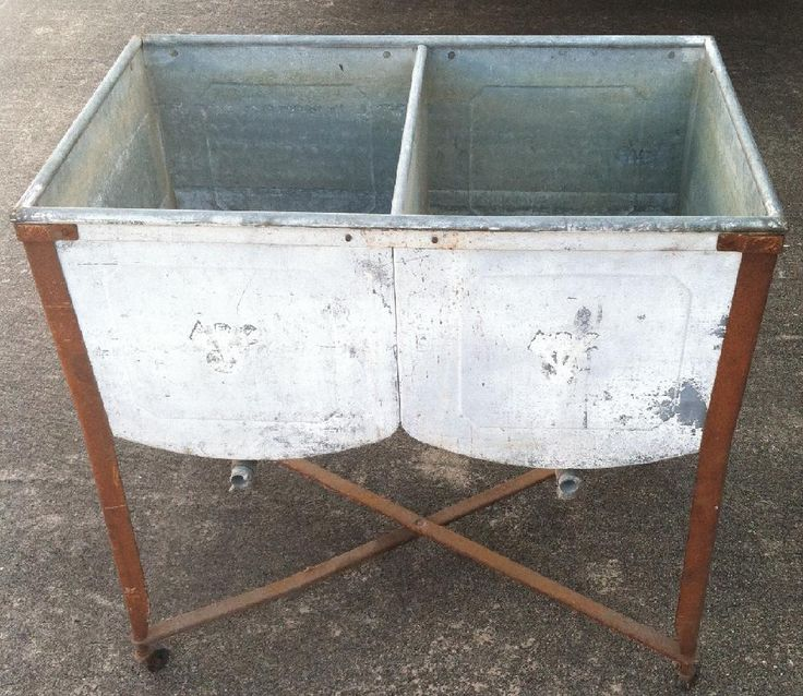 38 best wash tub ideas images on pinterest wash tubs for Old metal wash tub