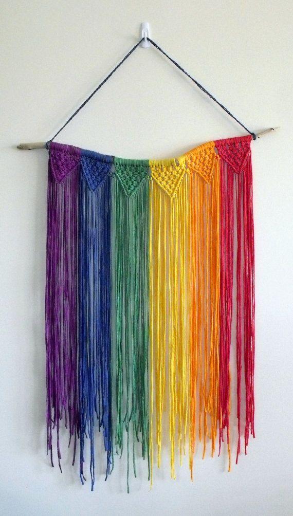 Rainbow Macrame Wall Hanging
