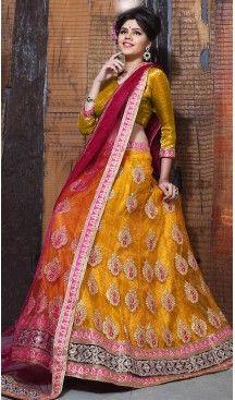 Butter Scotch Color Net A Line Style Treditional Wear Lehenga Choli | FH497276210 #heenastyle, #designer, #lehengas, #choli, #collection, #women, #online, #wedding , #Bollywood, #stylish, #indian, #party, #ghagra, #casual, #sangeet, #mehendi, #navratri, #fashion, #boutique, #mode, #henna, #wedding, #fashion-week, #ceremony, #receptions, #ring , #dupatta , #chunni , @heenastyle , #Circular , #engagement ,#treditional