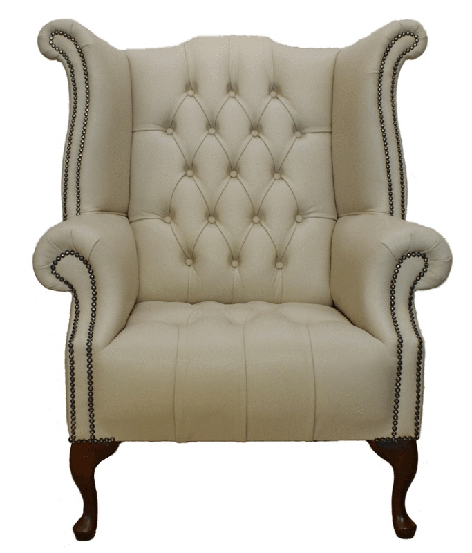 high back wing chair