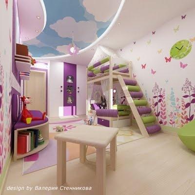 Dormitorio de niña entretenido