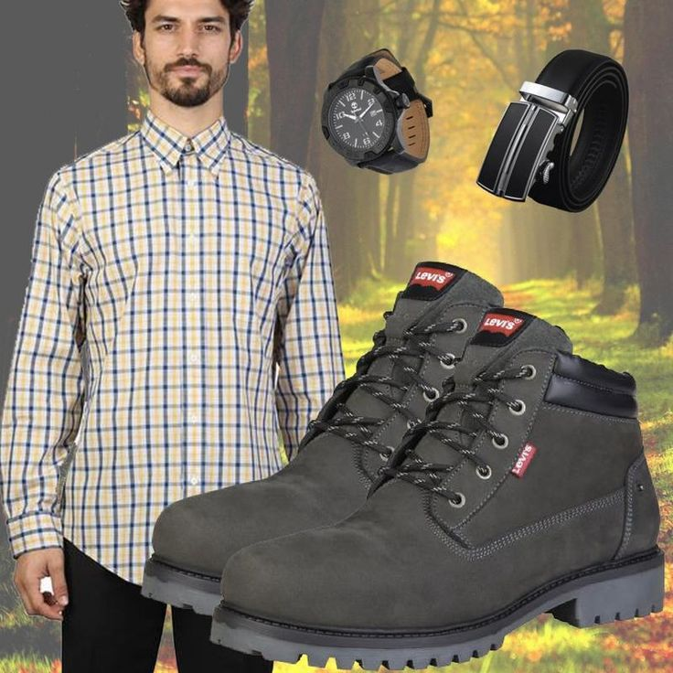 Run your Elegance 365 days a year! Elegance is a mindset Angel Grey Hiking Boots - Levis - Runit365 your Elegant Men Store #watch #shirt #belt #stylishwear #fashionaddict