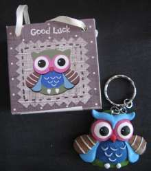 Owl Keyring - Good Luck - 3.75EUR - Craft Heaven : Craft supplies, Cakeware, Crystals & Angels