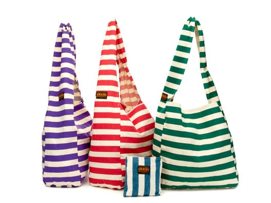 Striped Canvas Bag by Vine Street: Canvas Bags, Striped Canvas, Design Handbags, Accessor, Totes Bags, Vines Street, Summer Bags, Stripes Canvas, Canvases Bags