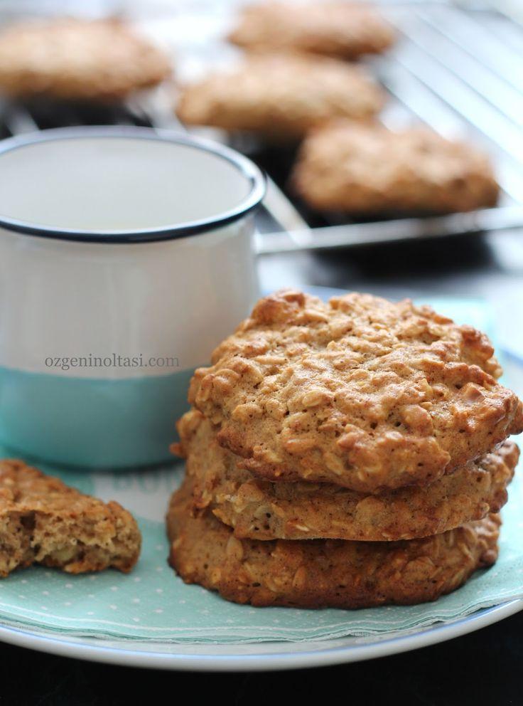 muzlu yulaflı kurabiye, yulaflı kurabiye, muzlu kurabiye