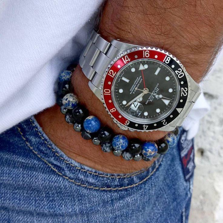 WRISTPORN™: Rolex GMT-Master II 16710 • @david2fam... #luxurywatches #menssuit