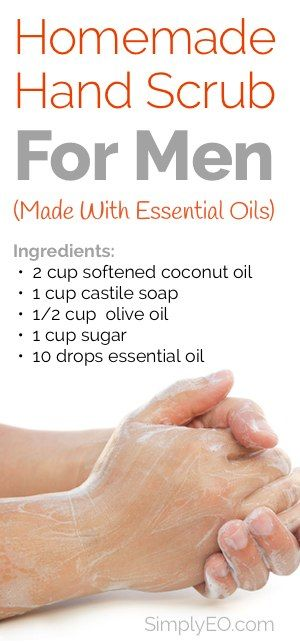 Here's an easy DIY hand scrub that uses essential oils for an extra kick!