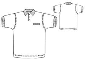 example - #6120 Polo-necked shirt