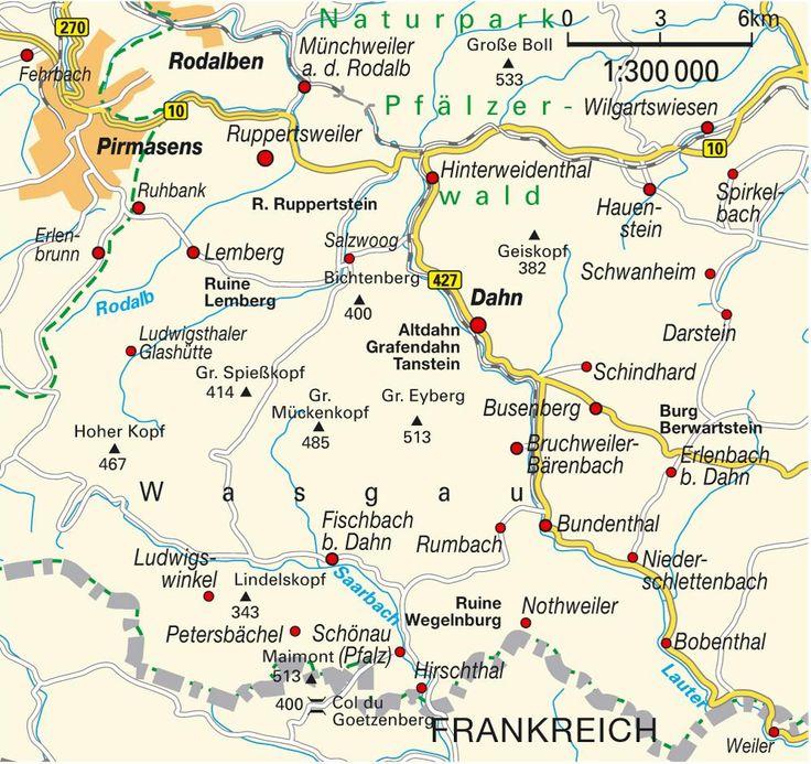 pfaelzerwald | Karte von Pfälzer Wald