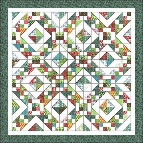 """Freckled Whimsy Charm Pack Quilt-Along. I think I need to do this a few more times; starts with 5"""" charm squares, either purchased as charm packs or made-from-scraps. Great instructions, tons of options for patterns! http://www.freckledwhimsy.com/search/label/Charm%20Pack%20Quilt%20Along"""