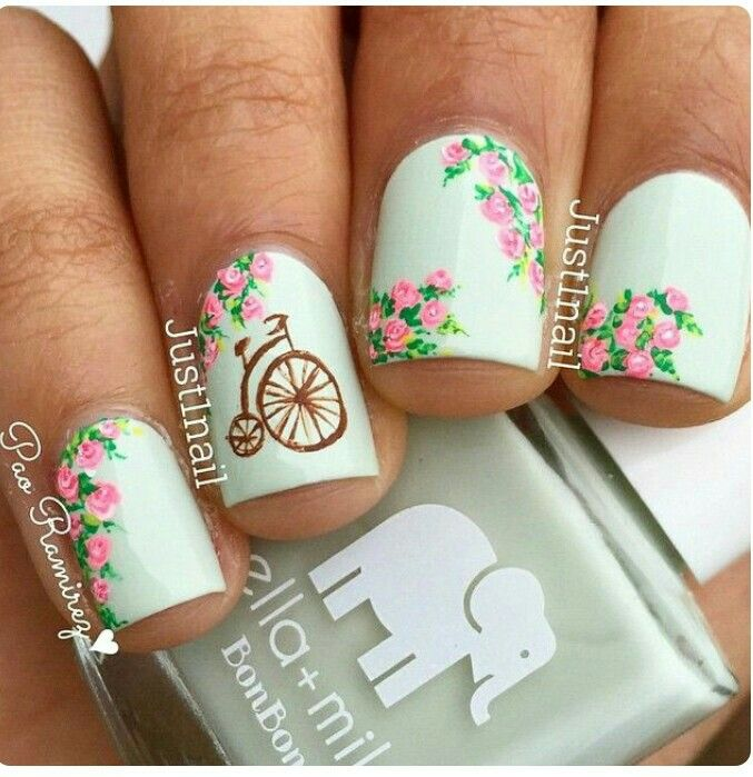 18 Vintage Floral Nail Designs You Will Love - Best 25+ Vintage Nail Art Ideas On Pinterest Shabby Chic Nails