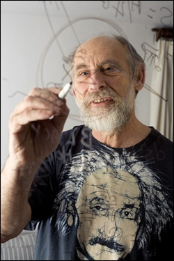 Leonard Susskind [b. 1940] is an American physicist specializing in string theory and quantum field theory. He is Felix Bloch professor of theoretical physics at Stanford. He is a notable promoter of public understanding of science, and his entire course on quantum physics can be downloaded on the iTunes platform from Stanford.