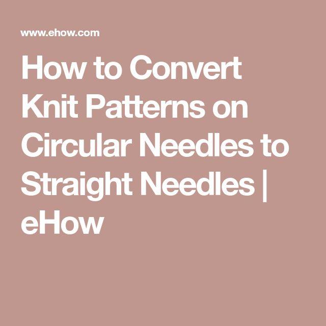how to use knitting needles circular