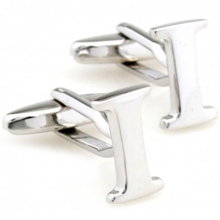 letter i alphabet initial cufflinks shopping the best deals on cuff links