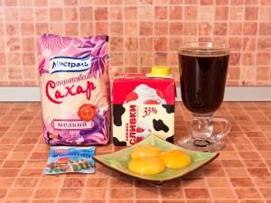 Кофейный крем. Ингредиенты