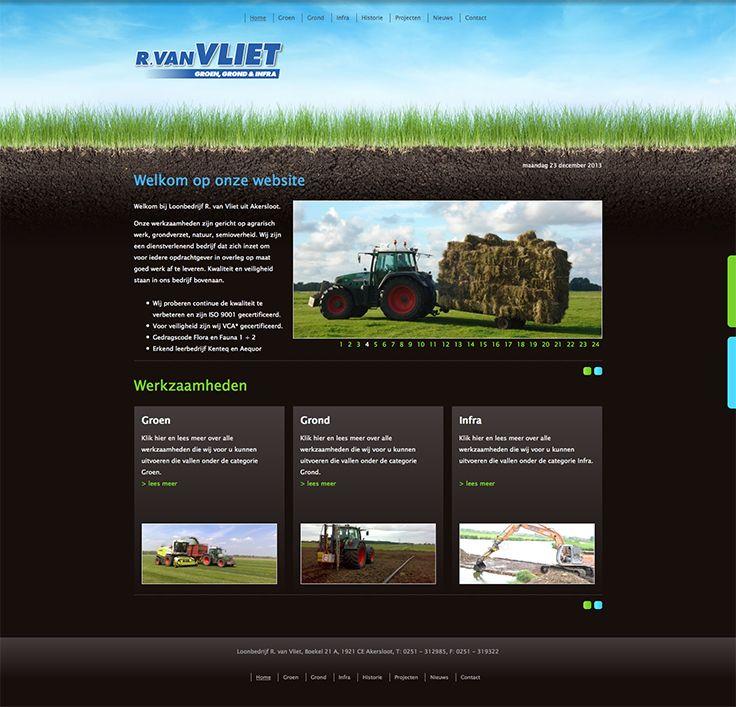 Website design voor R. van Vliet