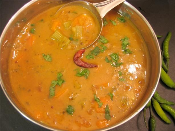 Sambhar- an Indian soup with lentils