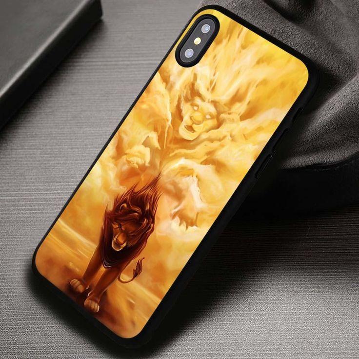 Lion King Simba Mufasa Disney - iPhone X 8  7 6s SE Cases & Covers #cartoon #disney #thelionking #iphonecase #phonecase #phonecover #iphone7case #iphone7 #iphone6case #iphone6 #iphone5 #iphone5case #iphone4 #iphone4case #iphone8case #iphoneXcase #iphone8plus
