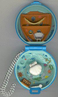 1992 - Polly Pocket Jeweled Sea    aka Princess Polly's Undersea World - Bluebird Toys Ref. No. 931231  Jewel Collection - Mattel #9248