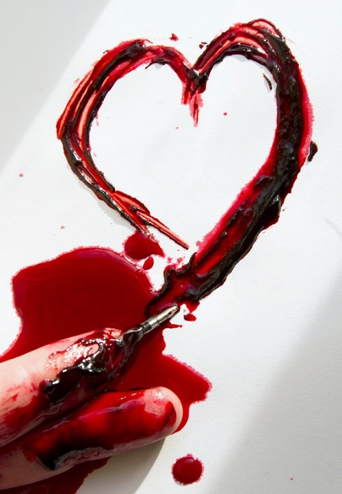 Картинки с кровью с надписями, спокойной