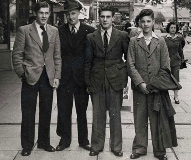 COSTUME - 1930s for male characters [men wore shorter ties, single breasted coats and creased pants]