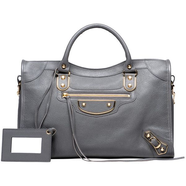 Balenciaga Classic Metallic Edge City featuring polyvore, women's fashion, bags, handbags, balenciaga purse, handbags shoulder bags, metallic shoulder bag, balenciaga shoulder bag and balenciaga