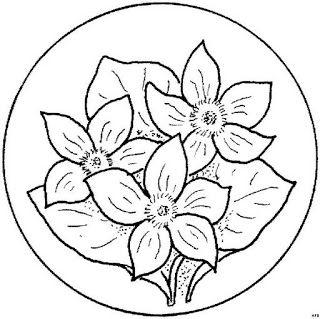 Mandalas Para Pintar: mandalas de flores