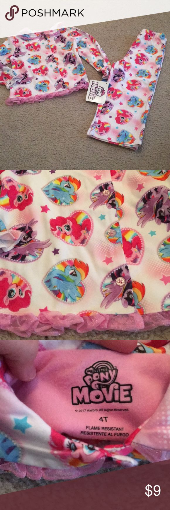 NWT My Little Pony pajama set 4t NWT My Little Pony pajama set size 4t My Little Pony Pajamas Pajama Sets